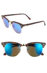 Ray Ban Women's 'Clubmaster' 51Mm Sunglasses Blue Mirror