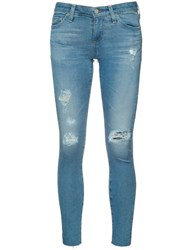 Ag Jeans Ripped Super Skinny Blue