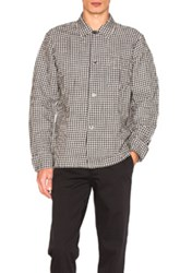 Our Legacy Box Shirt In Black Checkered And Plaid White Black Checkered And Plaid White
