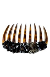 Colette Malouf Crystal Encrusted Tortoiseshell Comb