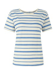 Dickins And Jones Bailey Button Back Tee Cornflower
