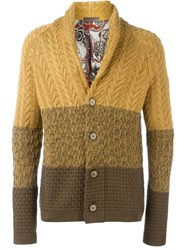 Etro Colour Block Cardigan Yellow And Orange