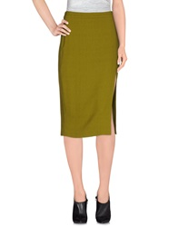 A.L.C. Knee Length Skirts Acid Green
