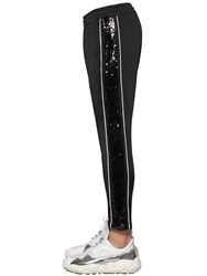 Versus By Versace Track Suit Pants W Sequins And Logo Black