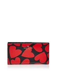 Kate Spade New York Stacy Be Mine Patent Saffiano Leather Wallet Multi Gold