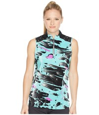 Jamie Sadock Meteorite Print Sleeveless Top Mermaid Beige