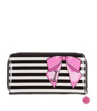 Harrods Stripy Bow Long Purse Unisex