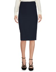 Hope Collection Knee Length Skirts Blue