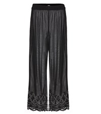 Ganni Martinez Embellished Tulle Trousers Black