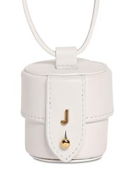 Jacquemus Le Micro Vanity Leather Shoulder Bag White