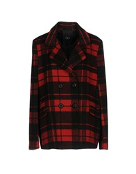 Twin Set Jeans Coats Red