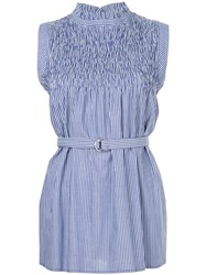 Guild Prime Striped Belted Sleeveless Top Blue