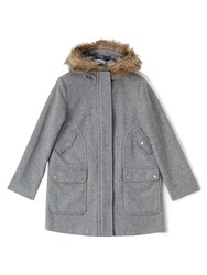 Dash Luxury Wool Hood Parka Grey