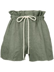 Bassike Paper Bag Shorts Green