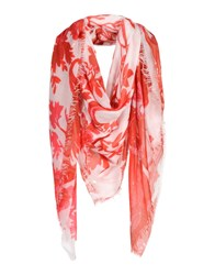 Dondup Square Scarves Red