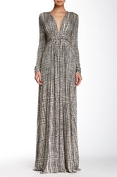 Rachel Pally Long Sleeve Full Length Kaftan Dress Black