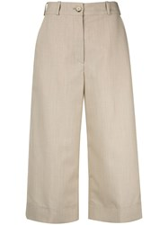 Nehera Cropped Flared Trousers Neutrals