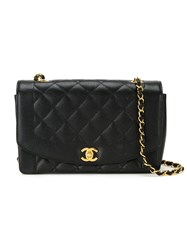 Chanel Vintage Quilted Crossbody Bag Black
