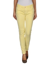Twin Set Jeans Denim Pants Yellow