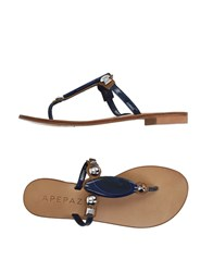 Apepazza Footwear Thong Sandals Women Blue