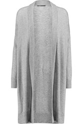 Vince Oversized Wool And Cashmere Blend Cardigan Gray
