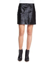 Theory Ketill Sonoran Calf Hair Mini Skirt Black