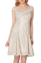 Tahari Women's Lace Fit And Flare Dress