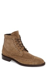 Crosby Square Men's Stuart Wingtip Boot Taupe Suede