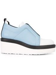 Pierre Hardy Colour Block Loafer Shoes Blue