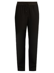 Elizabeth And James Collier Mid Rise Straight Leg Twill Trousers Black