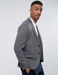 Selected Homme Slim Blazer In Fleck With Stretch Navy