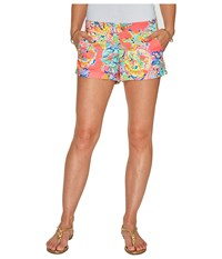 Lilly Pulitzer Kerrie Shorts Coral Reef Island Seacret Women's Shorts Multi