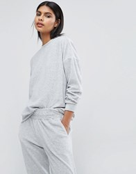 Y.A.S Lounge Sweatshirt Light Grey Melange