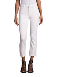 Mother Insider Cropped Flared Jeans Whipping The Cream