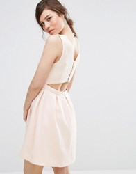 Suncoo Back Detail Dress Nude Pink
