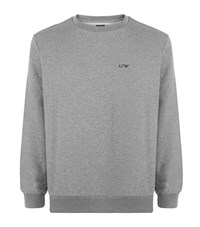 Armani Jeans Logo Cotton Sweater Male Grey
