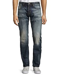 Cult Of Individuality Rebel Straight Seven Pocket Jeans Antique Blue