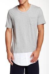 Shades Of Grey Shirttail Hem Tee Gray