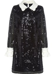 Miu Miu Sequinned Mini Dress Black