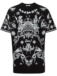 Givenchy Tattoo Print T Shirt Black