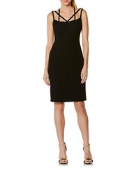 Laundry By Shelli Segal Fitted Strappy Sheath Dress Black