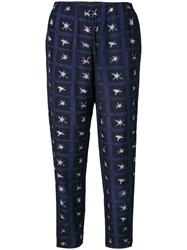 Romeo Gigli Vintage 2000'S Printed Trousers Blue