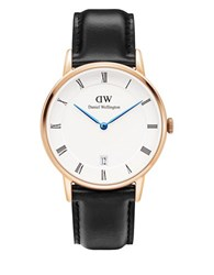 Daniel Wellington Dapper Sheffield 23K Rose Gold Plated Watch Black