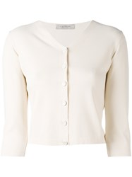 D.Exterior Three Quarters Sleeve Cropped Cardigan Women Polyester Viscose M Nude Neutrals