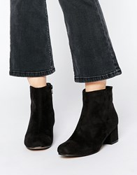 Truffle Collection Luan Square Toe Heeled Ankle Boots Blackmicro