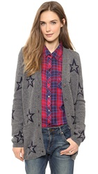 Chinti And Parker Star Outline Cardigan Grey Navy