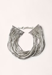 Missguided Silver Layered Multi Chain Choker