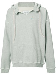 L'equip Reversible Hooded Sweatshirt Men Cotton L Grey