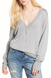 Treasure And Bond Slouchy Sweater Grey Heather