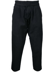 Snow Peak Haori Cropped Trousers Men Cotton Linen Flax Polyurethane M Black